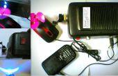 IMPROVISIERTER DYNAMO Stromversorgung (mit Ladegerät Ports, led-Licht, Mini Ventilator)