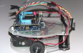 Arduino-basierte Linie Anhänger Roboter mit Zeilensensor Pololu QTR-8RC