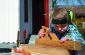 Holzbearbeitung mit Kindern wie zu: Fox und Schafe Spielbrett