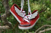 Wie erstelle ich Superhelden geflügelte Schuhe