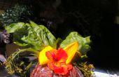 Fettuccine Primavera mit einer Sauce gefüllt Herzstück