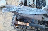 Machen ein großes Lagers Messer aus einem alten Raspel. Teil 2