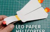 Hubschrauber LED Papier