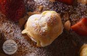 Heart Shaped Mandel Erdbeer Windbeutel Rezept