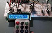 LCD-Anzeige der Temperatur in C oder F durch die Wahl der Art mit einer IR-Fernbedienung