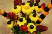 Essbare Früchte Anordnung im Einmachglas