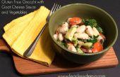 Gluten freie Gnocchi mit Ziegenkäse-Käse-Sauce und Gemüse
