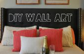 Geschenkpapier in Wandkunst drehen