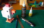 Crossy Straße Huhn mit Papercraft gemacht
