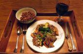 Soja-frei, glutenfrei, STEAK TERIYAKI mit süßen Kartoffeln und ZUCCHINI