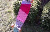 Ein Parkett Longboard