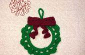 Weihnachten Kranz häkeln Ornament