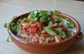 Wassermelonen-Salat mit Ajo Blanco (spanische weißer Gaspacho) und Kombucha