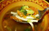 Heilen die Grippe mit Hähnchen Nudel Suppe *