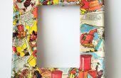 Decoupage Bilderrahmen mit Comics