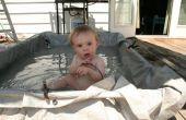 30-minütige Kinderplanschbecken aus Schrott, pvc und eine Plane