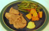 Grüne Bohnen mit Knoblauch und Balsamico-Essig