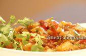 Auberginen-Salat – mit Tomaten & Paprika