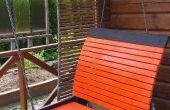 Gartenterrasse Schaukelbett - wenn eine einfache Hängematte einfach nicht tun!