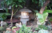 Machen Sie einen japanischen Garten Laterne aus Hypertufa