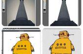 Ein Bild verwenden Pixlr Editor es Zauberstab Dinge von Schneiden