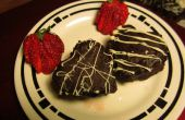 Schokolade Haselnuss Brownie Herzen
