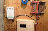 Haus errichtet Photovoltaik-Anlage