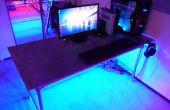 Aluminium-Platte-Schreibtisch mit LED-Beleuchtung