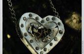 Steampunk Herz Halskette