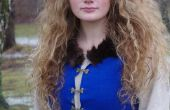 Mittelalterliche inspiriert, blaues Kleid