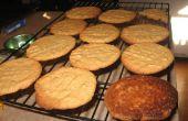 Super einfache Gluten freie Erdnussbutter (Chocolate Chip) Cookies
