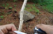 Bauen Sie ein Feuer in dem Regen/Wet Gegebenheiten