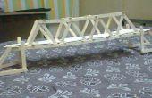 Brücke-Prototyp mit Eis-Sticks