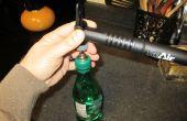 Abhalten, dass offene kohlensäurehaltige Getränke gehen flach