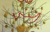 DIY Mini Xmas Tree von Palm Stengel