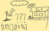 Überwachen von Temperatur und Luftfeuchtigkeit Wert von Ihrer Website (Internet of Things Consept)