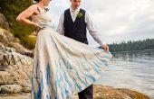 Handbemalt, Upcycled Wedding Dress