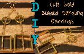 DIY-süße Gold Perlen Ohrringe baumeln