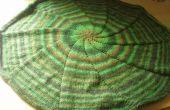 Kreisförmige Decke gestrickt in der Runde