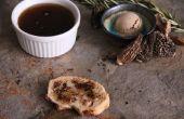 Steinpilze Pilze geklärt Butter/Ghee