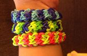 Wie erstelle ich Rainbow Loom Armband doppelte x Kreuz * INTERMEDIATE LEVEL *