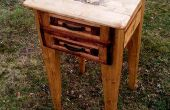 Nachttisch mit Holzofen erstellt mit 99 % 2 x 4 Holz