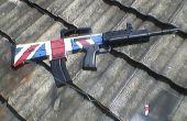Britische Flagge auf Airsoft Einheit zu malen