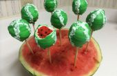 Wassermelone Cake pops