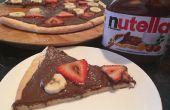 Nutella Nachtisch Pizza (Teig von Grund auf neu!!)