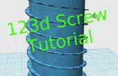 Wie erstelle ich eine Schraube und eine Gewindebohrung im 123d Design