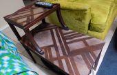 Art Deco inspirierten Holz Nacharbeiten der Behandlung