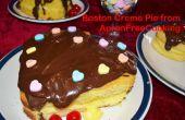 Romantische Boston Creme Pie Herzen zum Valentinstag
