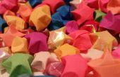 Wie man Origami Papier-Sterne machen