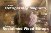 Kühlschrank-Magnete aus aufgearbeiteten Holz verschrottet machen